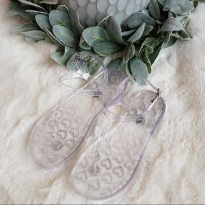 EUC - Old Navy Jelly Sandals - Clear